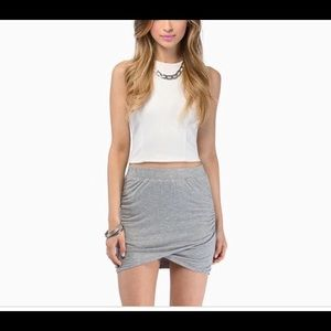 Tobi White wrap mini skirt XS